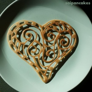 Filigree Heart Pancakes